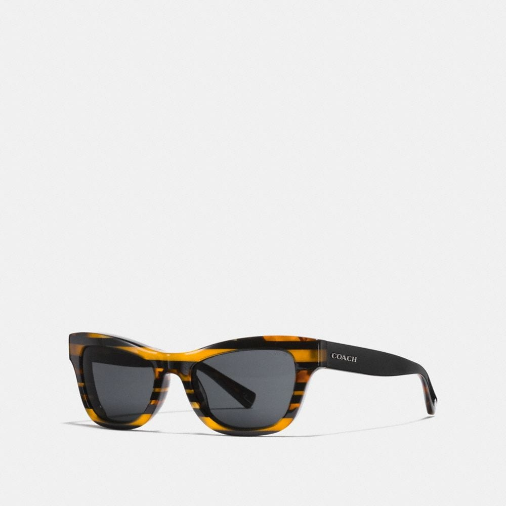GLITTER CAT EYE VARSITY STRIPE SUNGLASSES