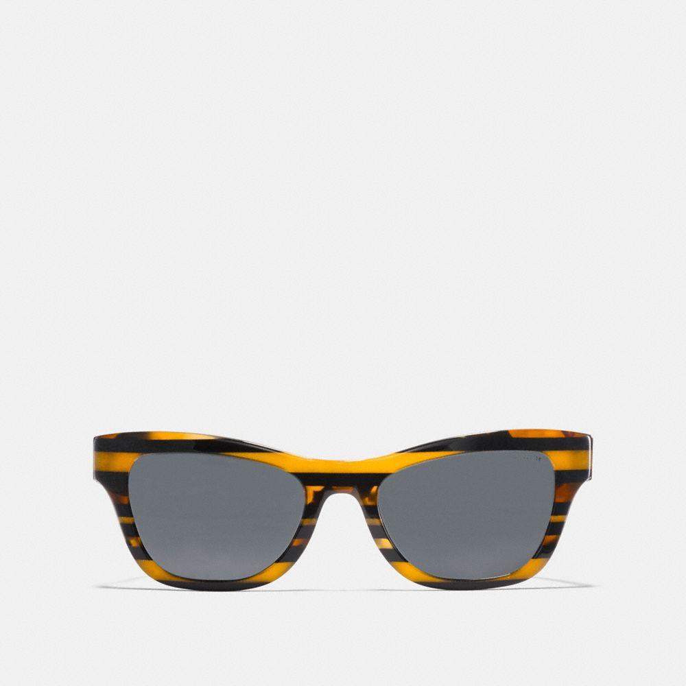 Coach Glitter Cat Eye Varsity Stripe Sunglasses Alternate View 2