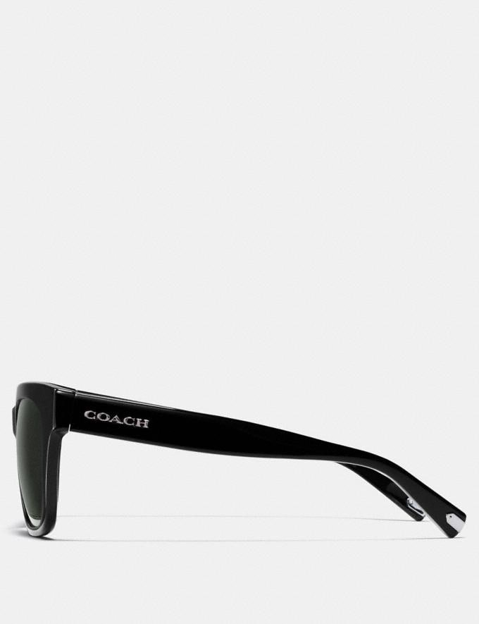 Coach Coach Square Sunglasses Black  Alternate View 3