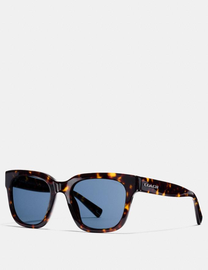 Coach Coach Square Sunglasses Dark Tortoise Men Accessories Sunglasses