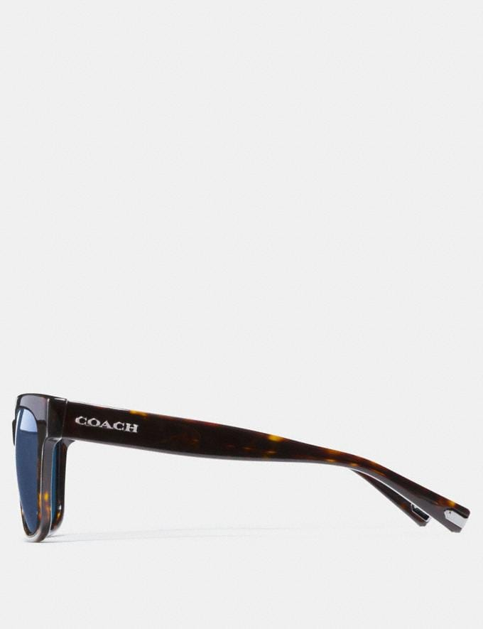Coach Coach Square Sunglasses Dark Tortoise Men Accessories Sunglasses Alternate View 3