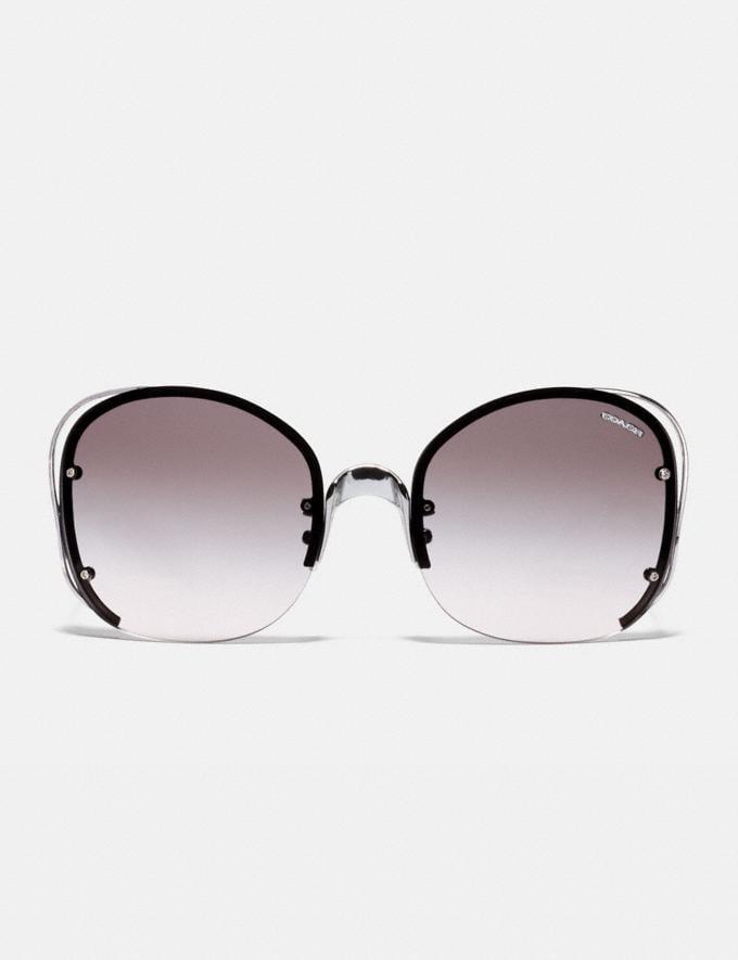 Coach Open Wire Sunglasses Gunmetal/Pink Brown Gradient Women Accessories Eyewear Alternate View 2