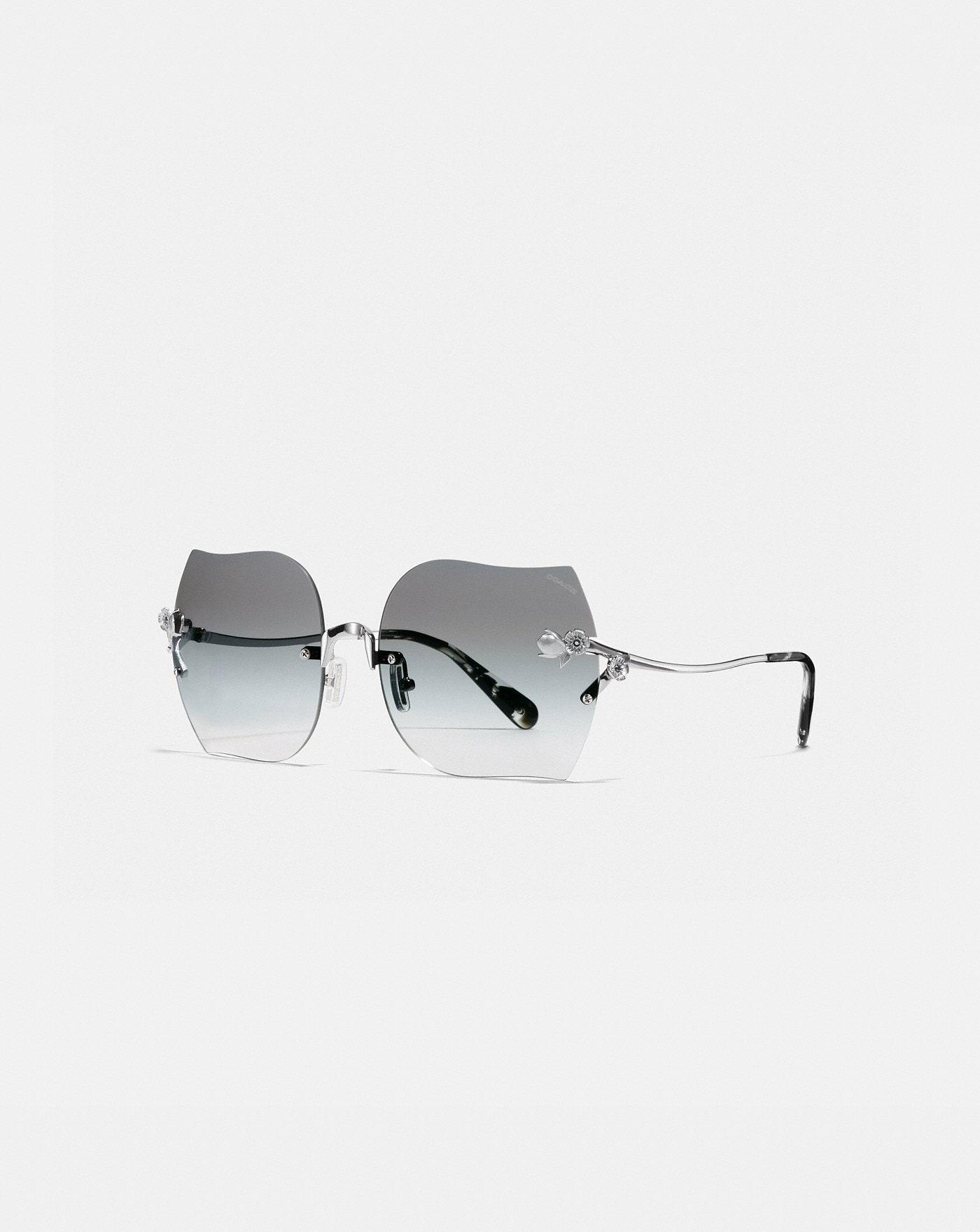 0e60490fed0 Rimless Tea Rose Sunglasses