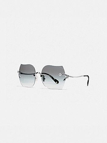 rimless tea rose sunglasses