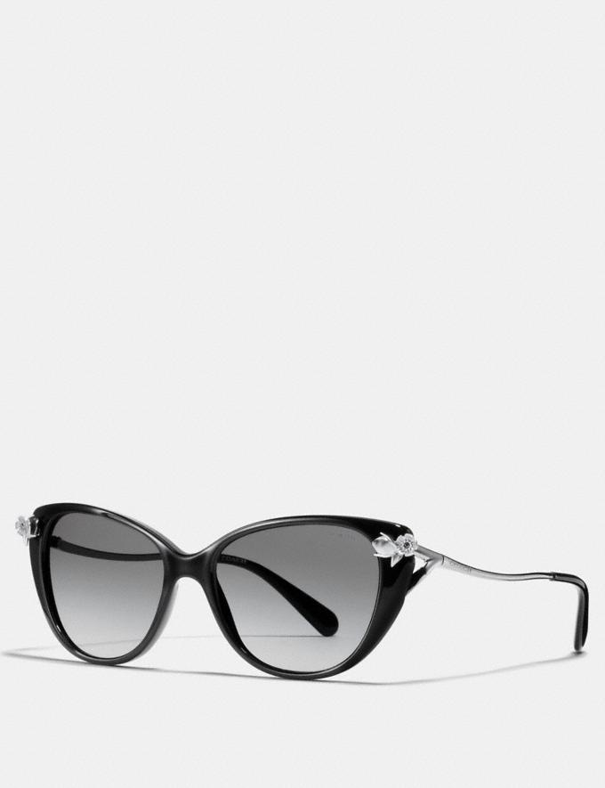 Coach Tea Rose Sunglasses Black Women Accessories Sunglasses