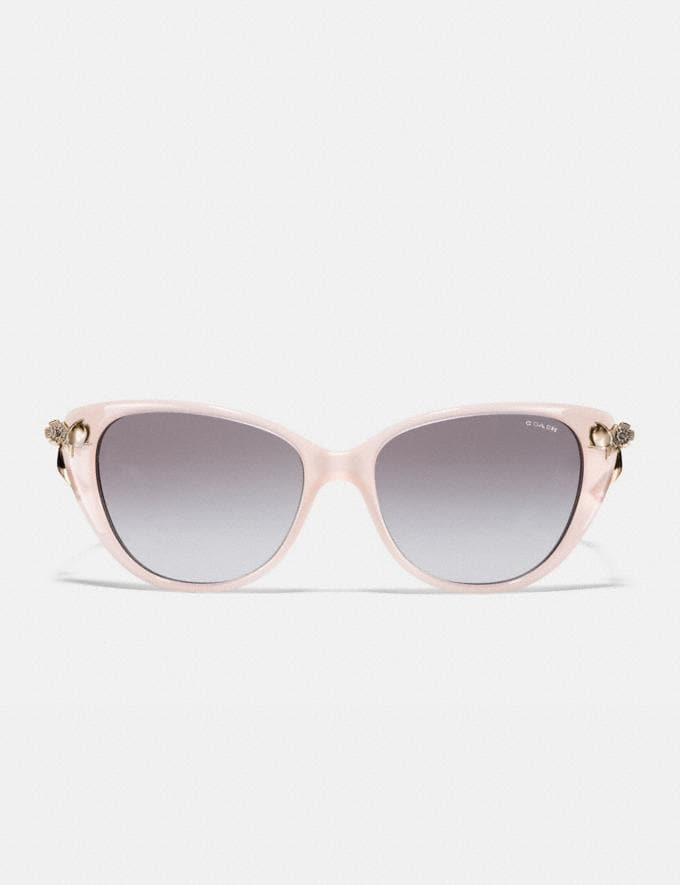 Coach Tea Rose Sunglasses Milky Pink Blush SALE Women's Sale Accessories Alternate View 2