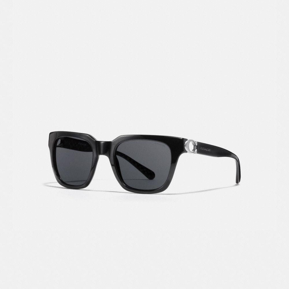 Coach Signature Hardware Square Sunglasses