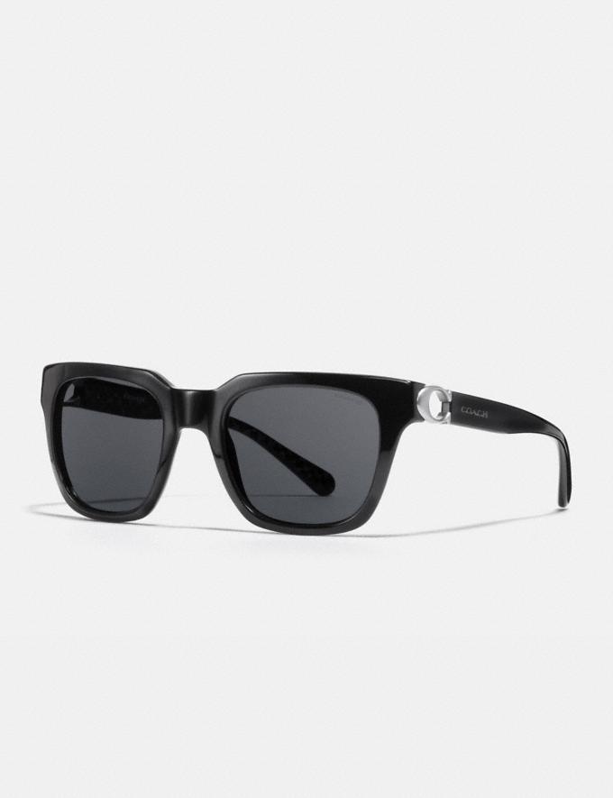 Coach Signature Hardware Square Sunglasses Black CYBER MONDAY SALE Women's Sale Accessories