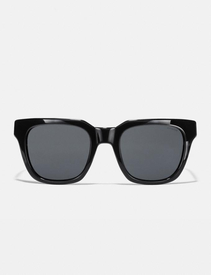 Coach Signature Hardware Square Sunglasses Black CYBER MONDAY SALE Women's Sale Accessories Alternate View 2