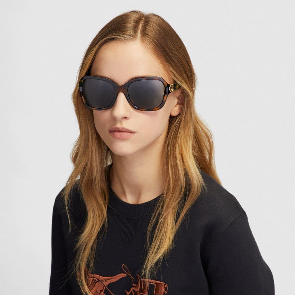 Coach Signature Hardware Rectangle Sunglasses Alternate View 1