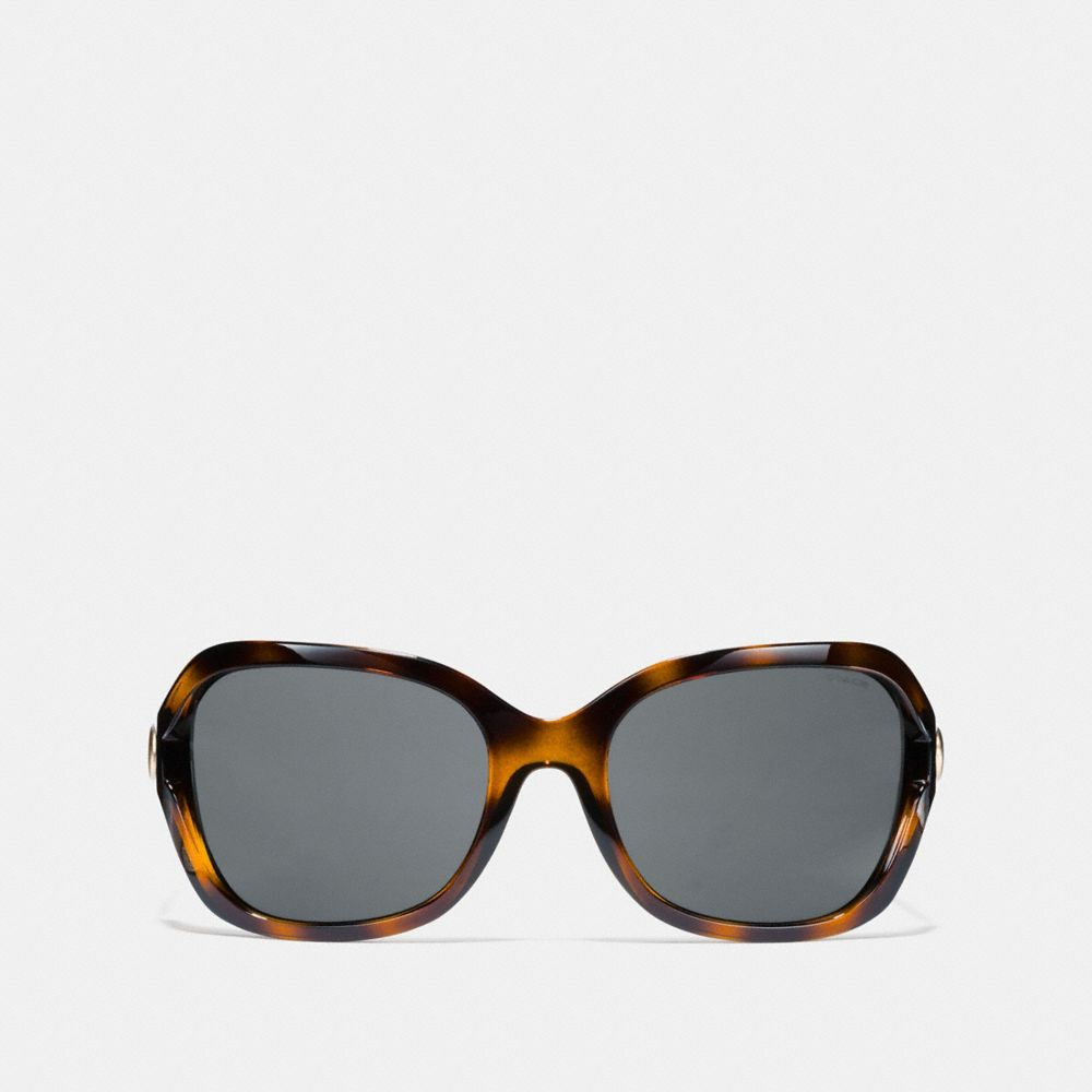 Coach Signature Hardware Rectangle Sunglasses Alternate View 2
