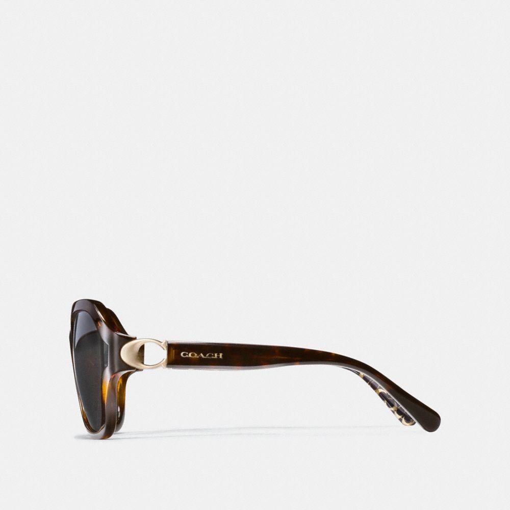 Coach Signature Hardware Rectangle Sunglasses Alternate View 3