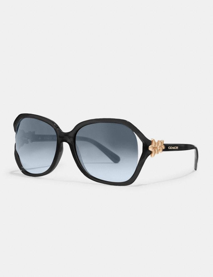Coach Integration Flower Sunglasses Black