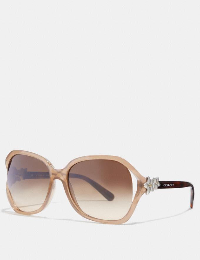 Coach Integration Flower Sunglasses Milky Light Brown