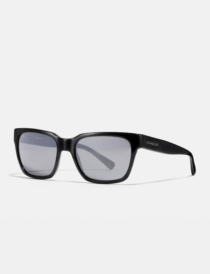 Coach Varick Square Sunglasses Black/Gunmetal Mirror