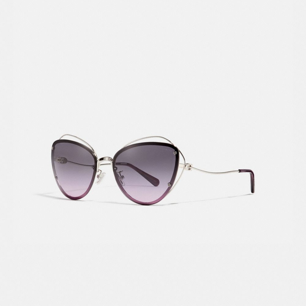 Coach Open Wire Cat Eye Sunglasses