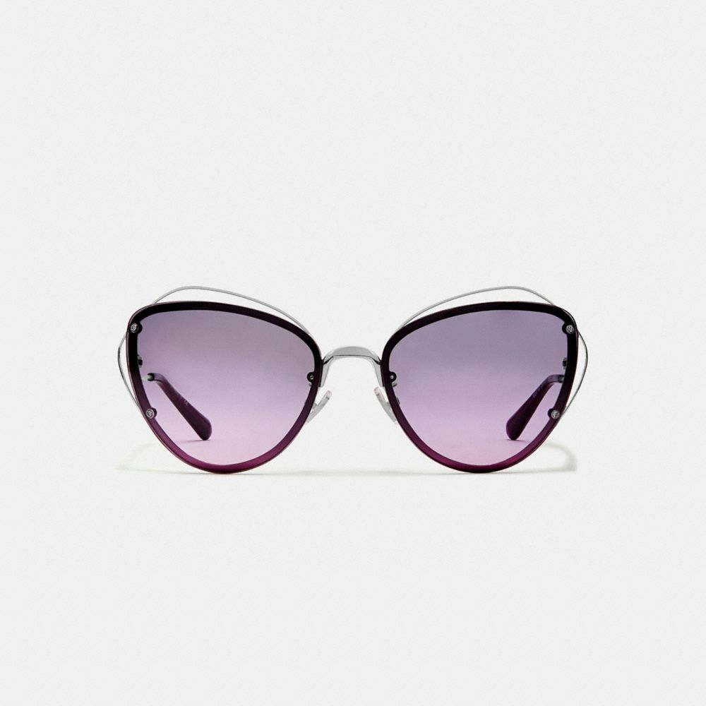 Coach Open Wire Cat Eye Sunglasses Alternate View 2