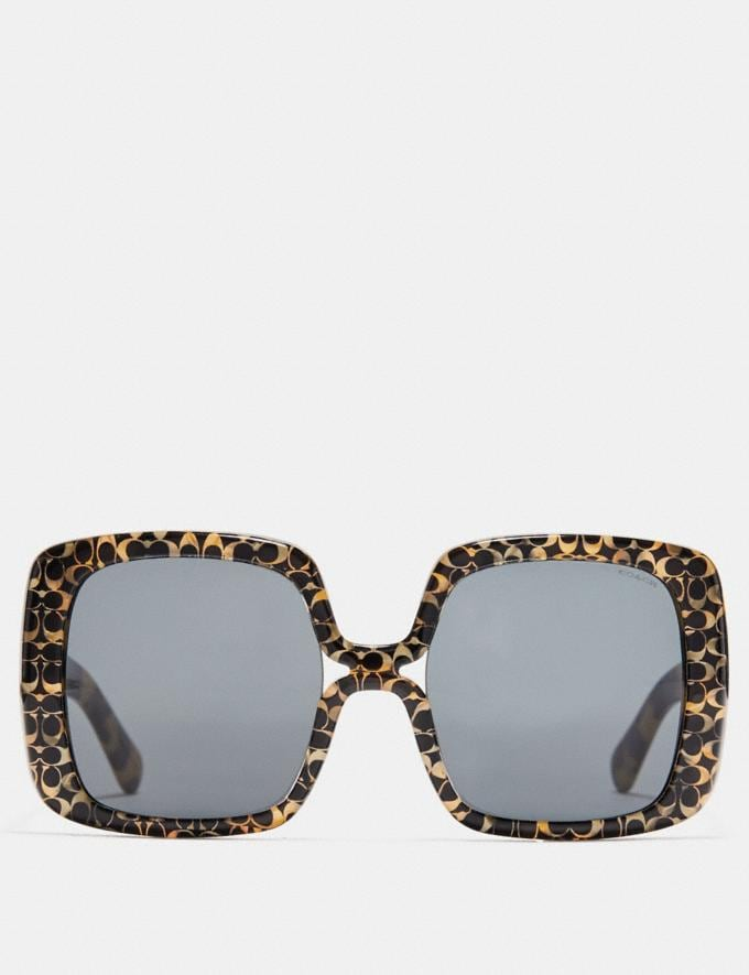 Coach Ombre Signature Square Sunglasses Spotty Tortoise  Alternate View 2