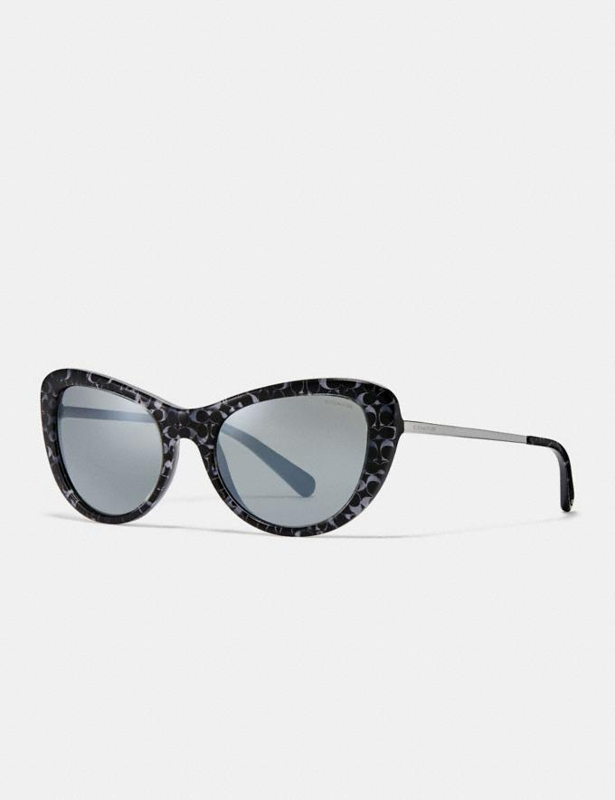 Coach Ombre Signature Cat Eye Sunglasses Spotty Tortoise DEFAULT_CATEGORY