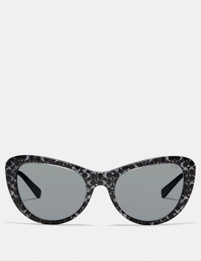 Coach Ombre Signature Cat Eye Sunglasses Spotty Tortoise DEFAULT_CATEGORY Alternate View 2