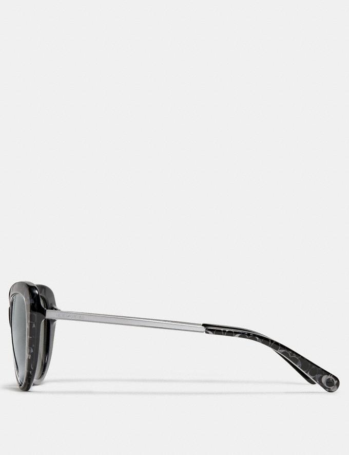 Coach Ombre Signature Cat Eye Sunglasses Spotty Tortoise DEFAULT_CATEGORY Alternate View 3