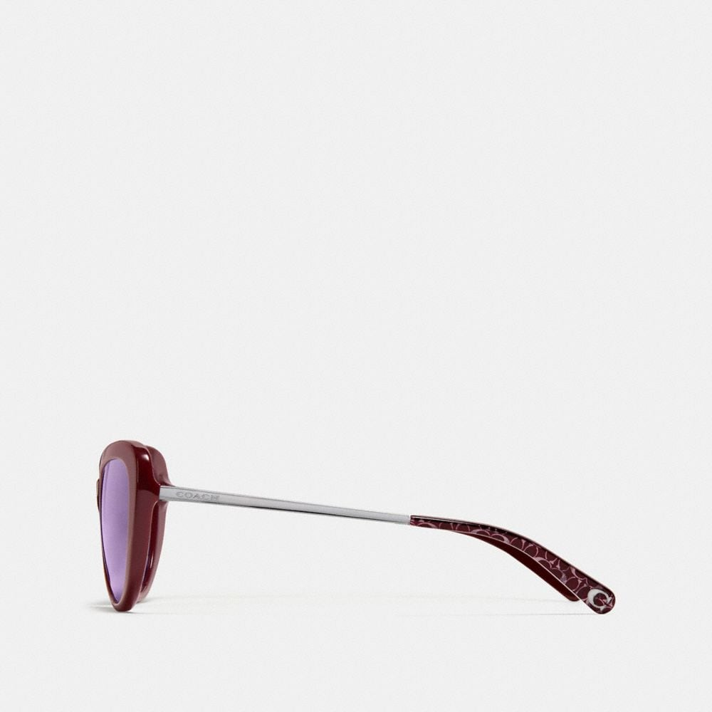 Coach Ombre Signature Cat Eye Sunglasses Alternate View 3