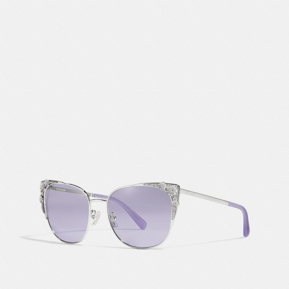 Coach Metal Tea Rose Cat Eye Sunglasses