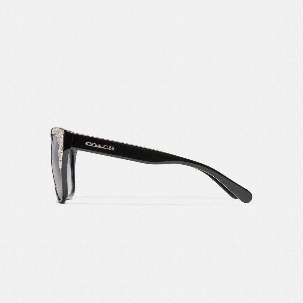 Coach Metal Tea Rose Square Sunglasses Alternate View 3