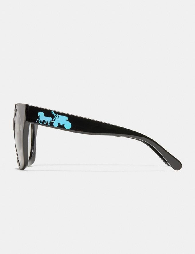 Coach Horse and Carriage Hologram Sunglasses Black DEFAULT_CATEGORY Alternate View 3