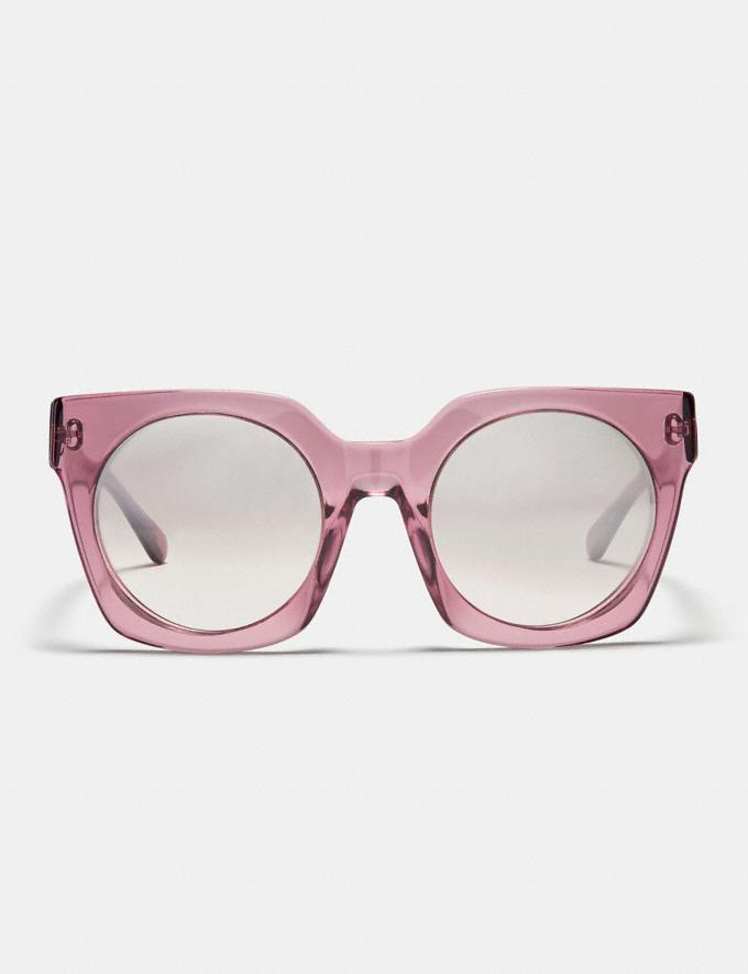 Coach Horse and Carriage Hologram Sunglasses Translucent Pink/Silver Pink Gradient Flash Women Accessories Sunglasses Alternate View 2