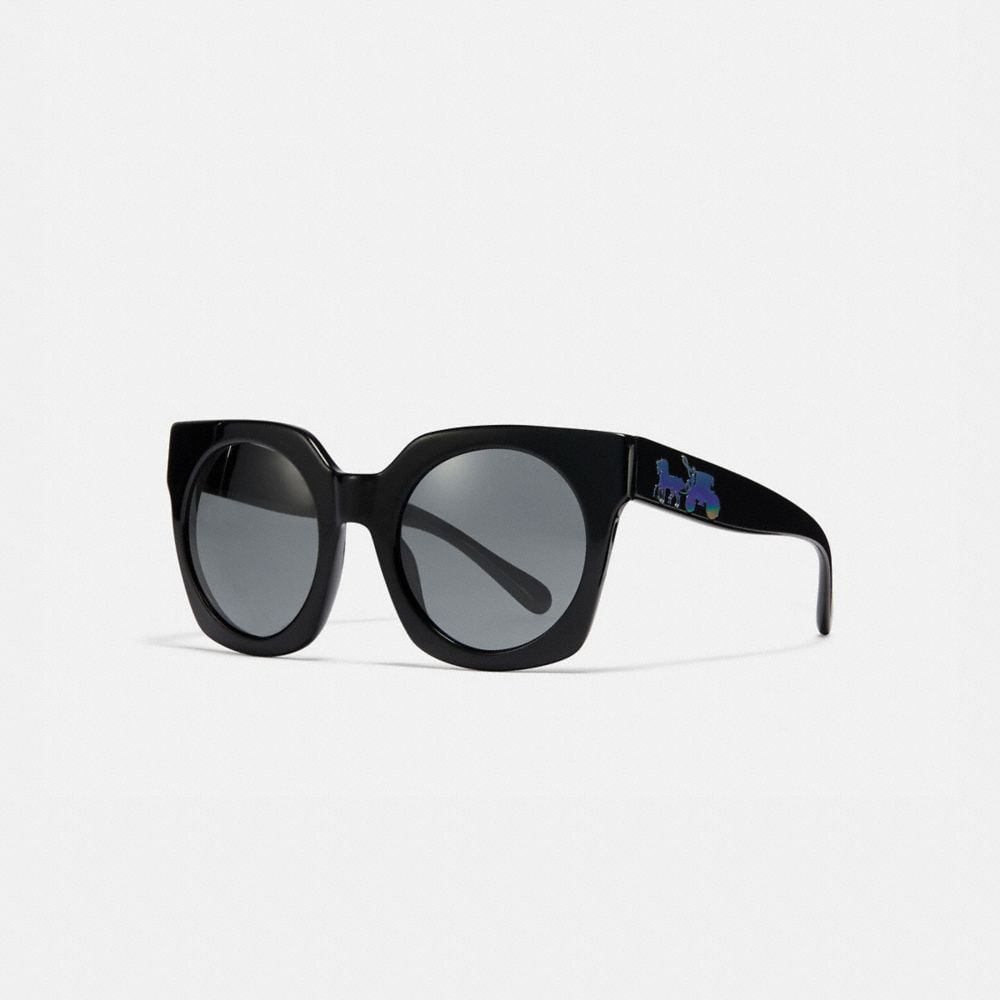 Coach Horse and Carriage Hologram Sunglasses
