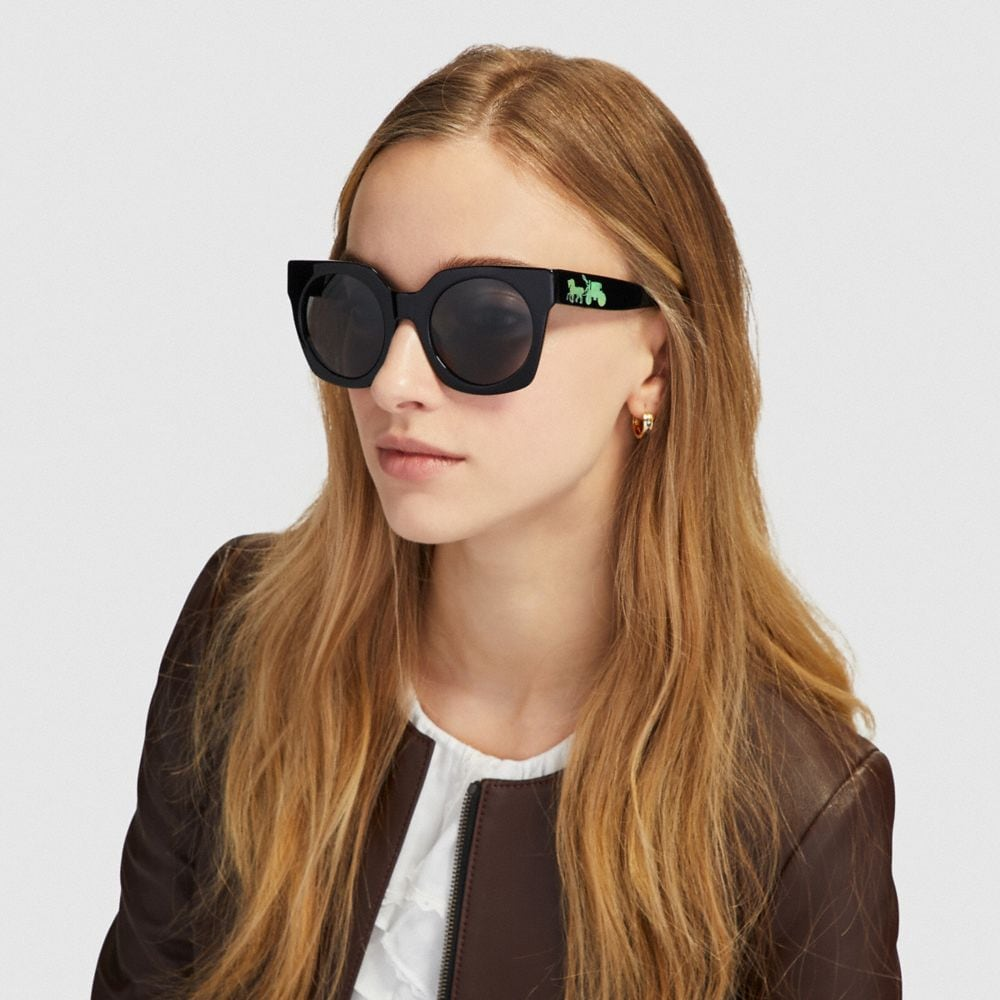 Coach HORSE AND CARRIAGE HOLOGRAM SUNGLASSES Alternate View 1
