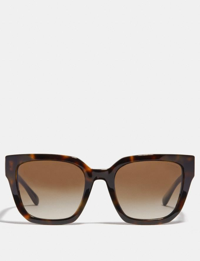 Coach Horse and Carriage Hologram Square Sunglasses Dark Tortoise Women Accessories Sunglasses Alternate View 2