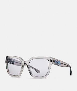 HORSE AND CARRIAGE HOLOGRAM SQUARE SUNGLASSES
