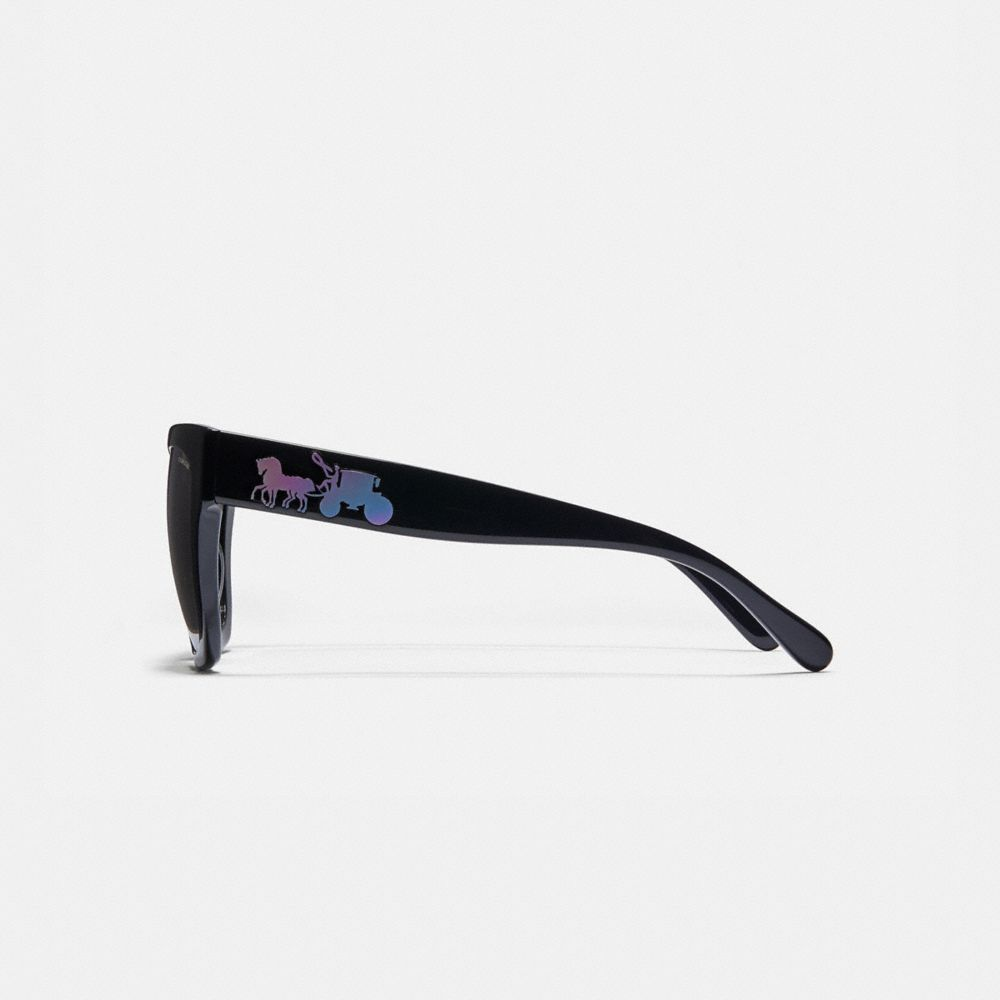 Coach Horse and Carriage Hologram Square Sunglasses Alternate View 3