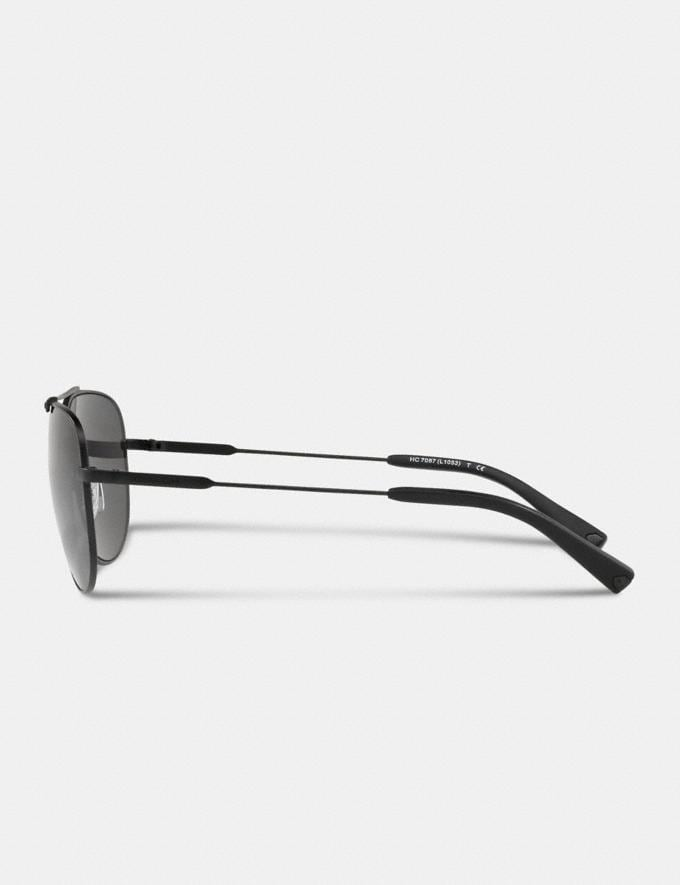 Coach Wire Frame Pilot Sunglasses Matte Black  Alternate View 3
