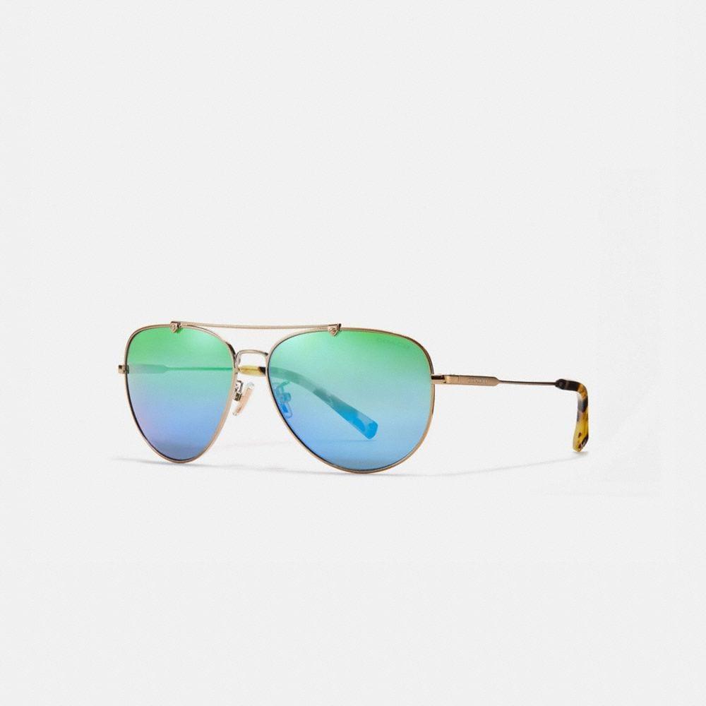 Coach Wire Frame Pilot Sunglasses