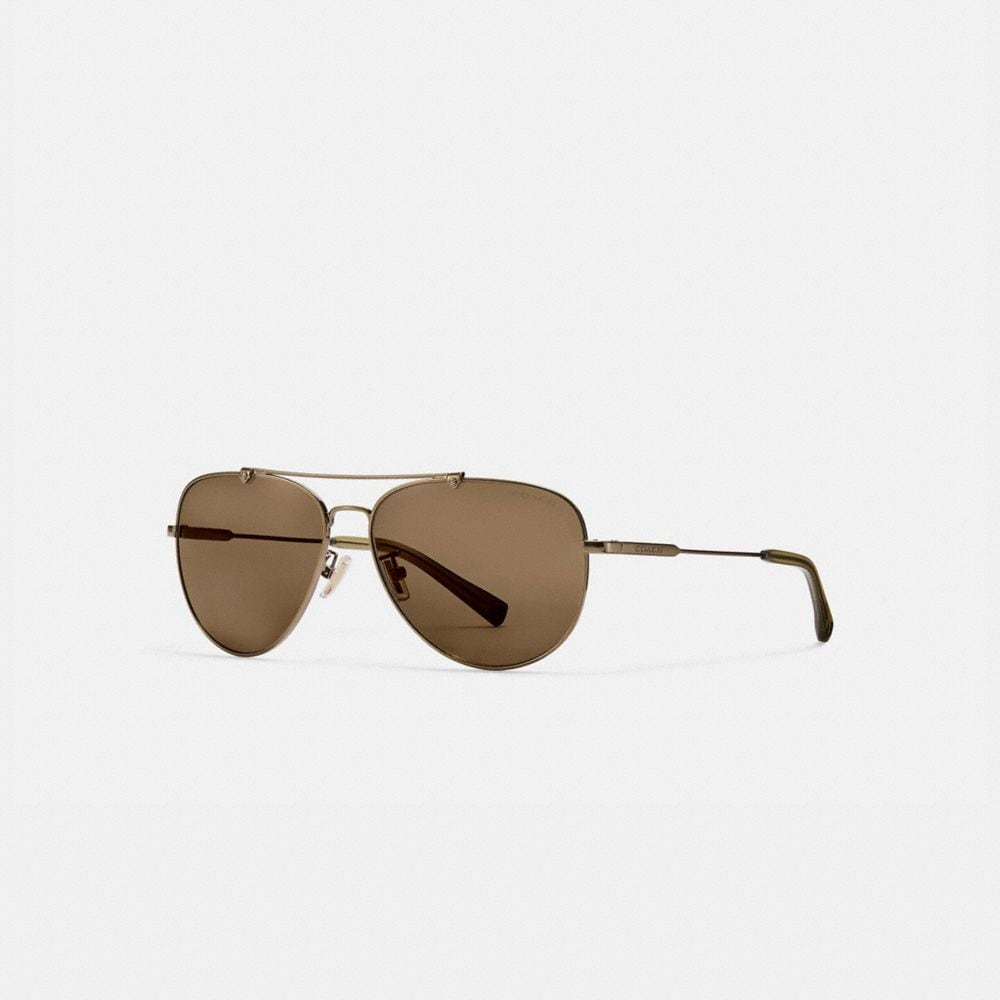 Coach Wire Frame Pilot Sunglasses