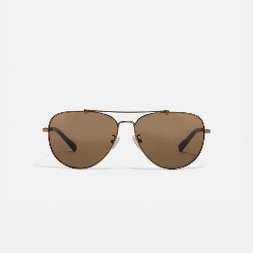 Coach Wire Frame Pilot Sunglasses Alternate View 2
