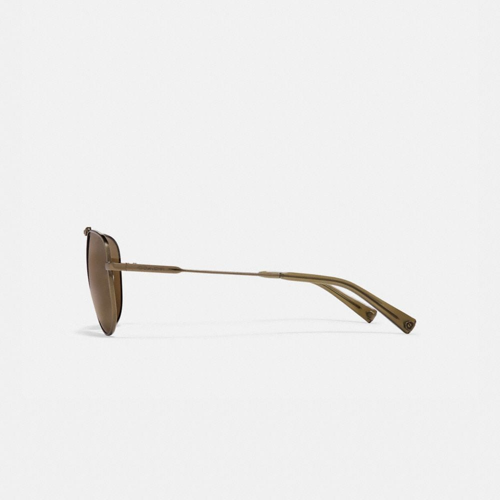 Coach Wire Frame Pilot Sunglasses Alternate View 3