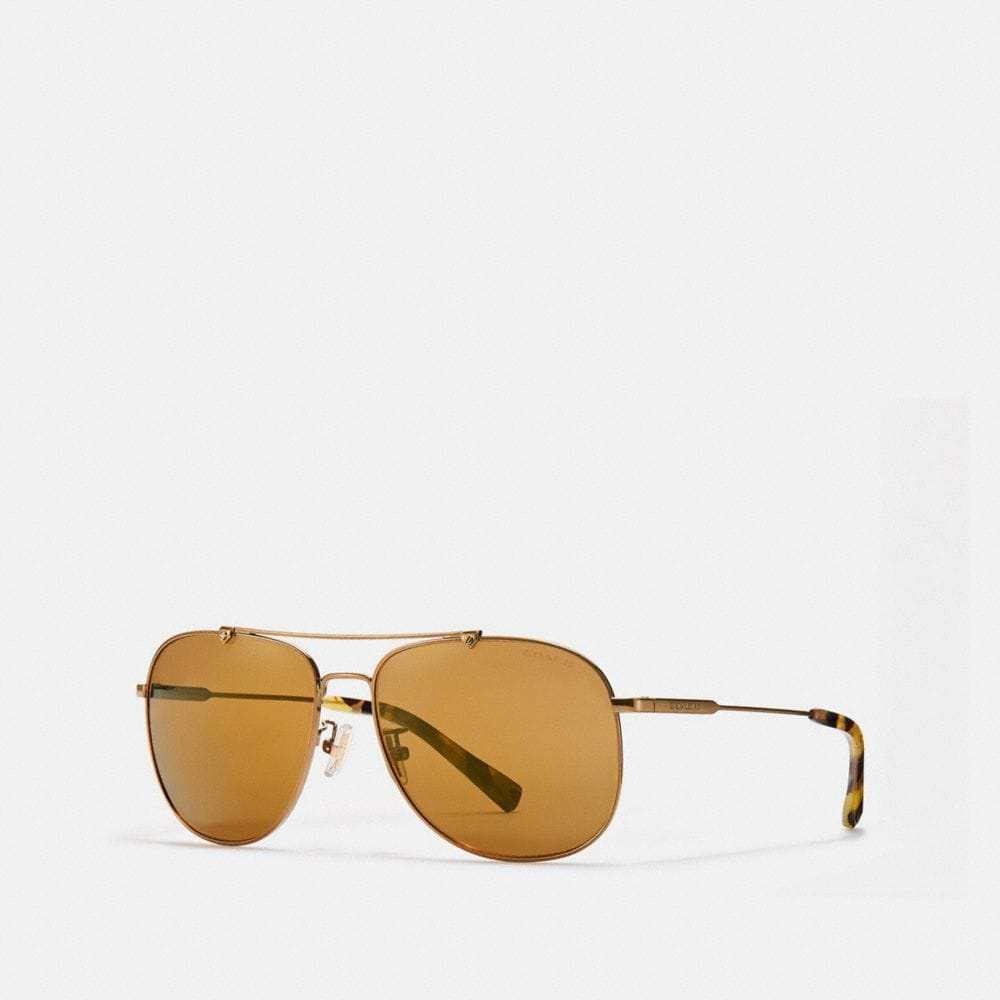 Coach Wire Frame Navigator Sunglasses