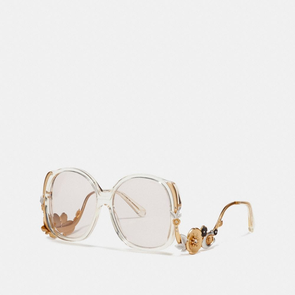 Coach Tea Rose Frame Sunglasses