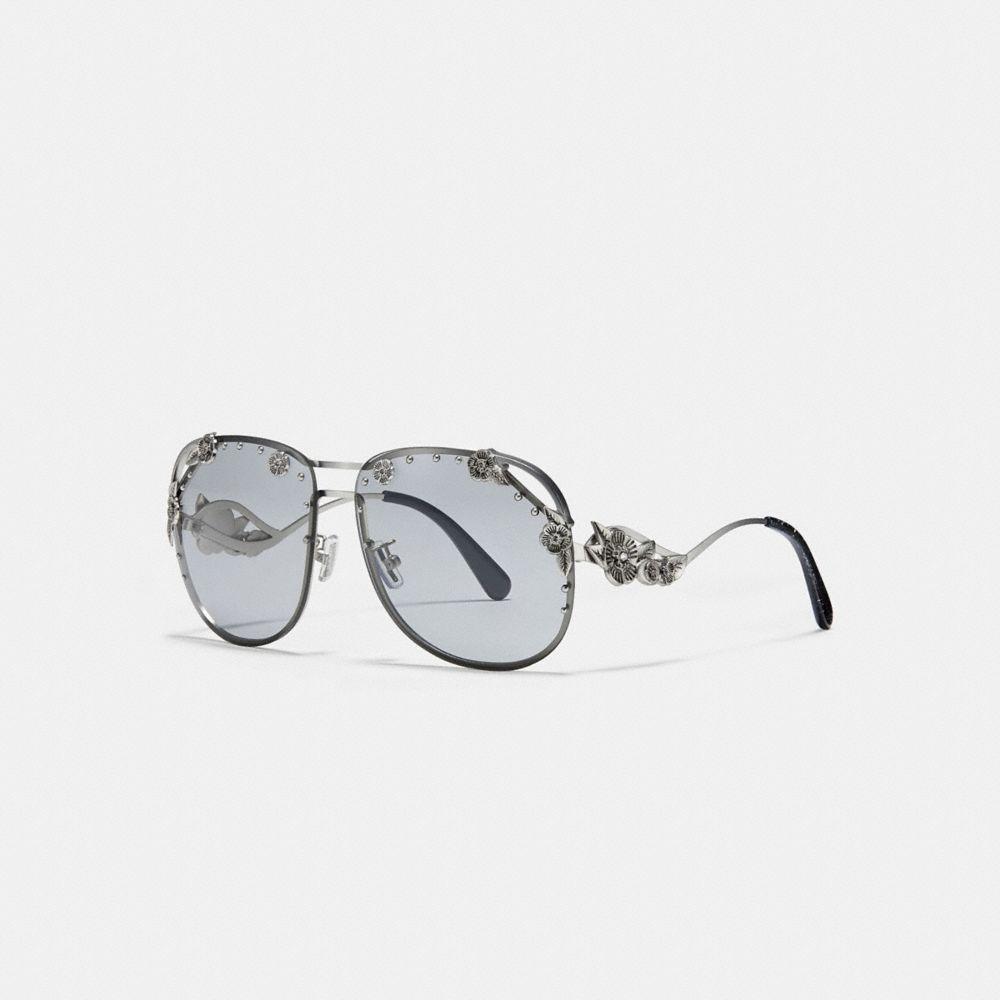 Coach Tea Rose Aviator Sunglasses