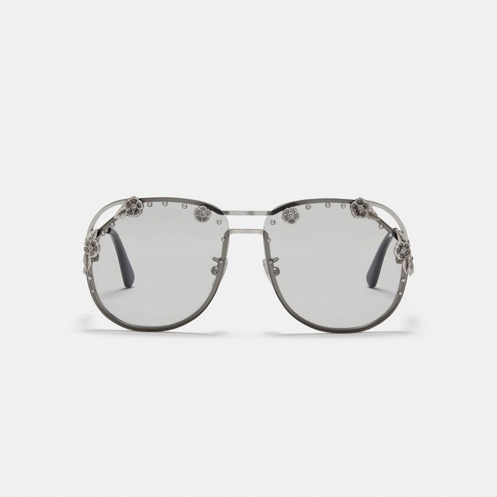 Coach Tea Rose Aviator Sunglasses Alternate View 1