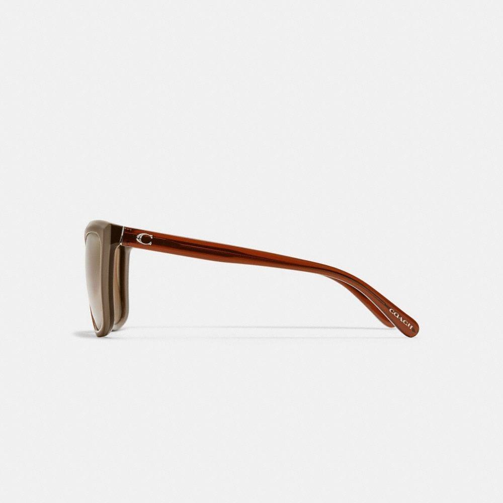 Coach Beveled Edge Square Sunglasses Alternate View 3