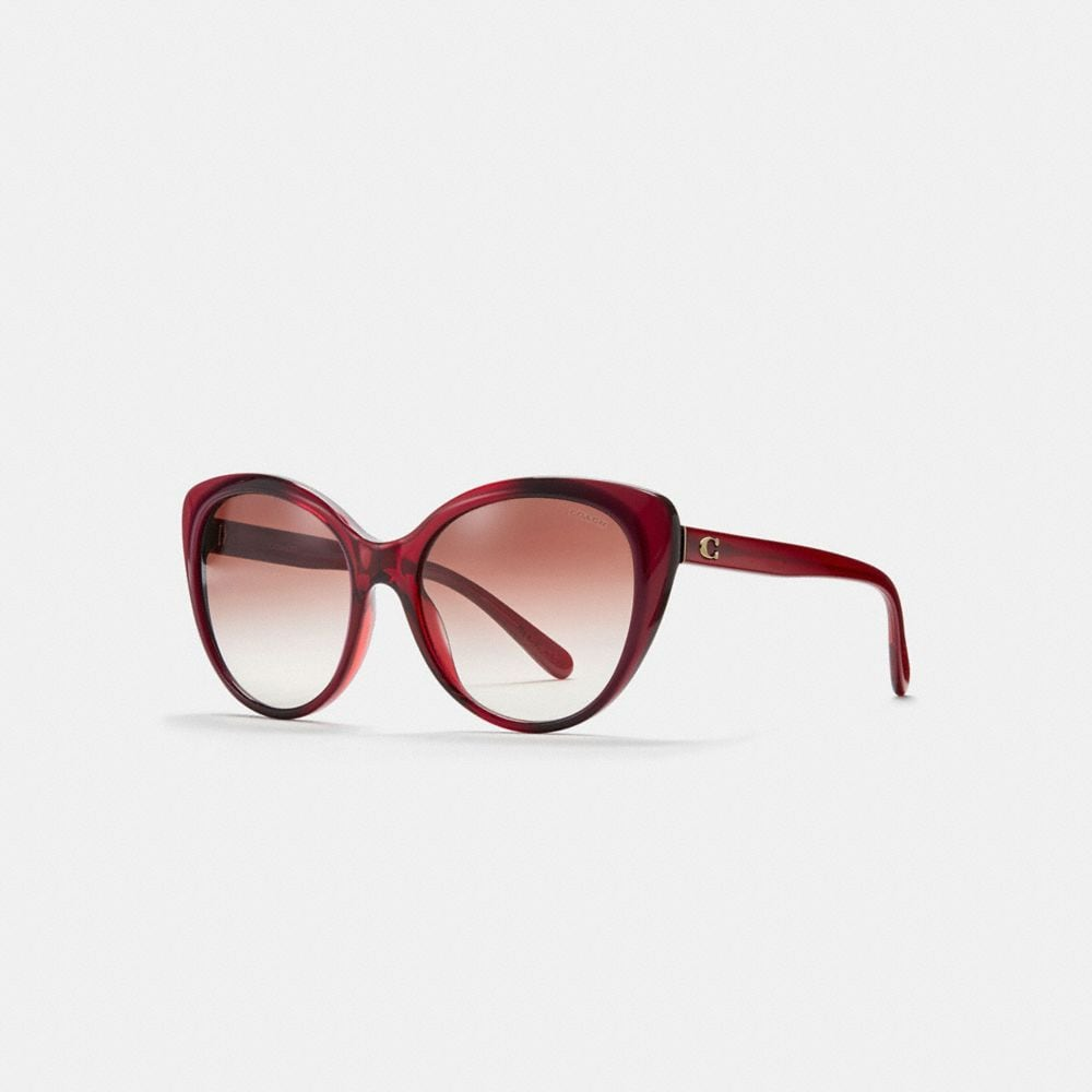 Coach Beveled Edge Cat Eye Sunglasses
