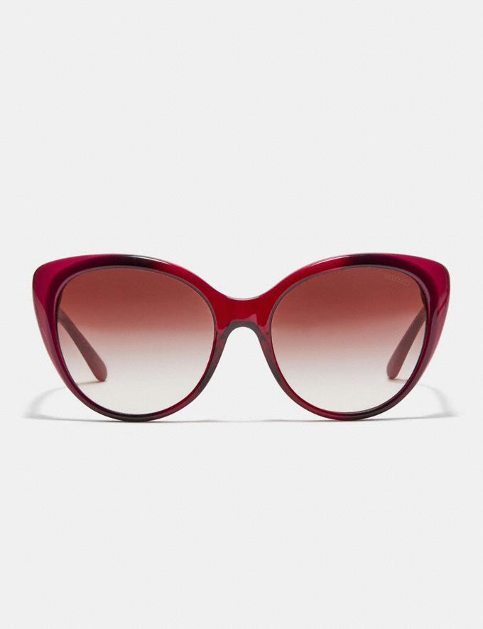 Coach Beveled Edge Cat Eye Sunglasses Berry Laminate CYBER MONDAY SALE Women's Sale Accessories Alternate View 2