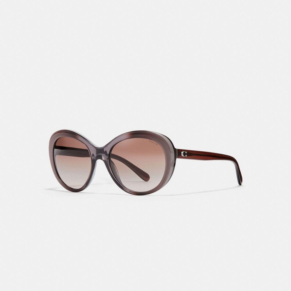Coach Beveled Edge Oval Sunglasses