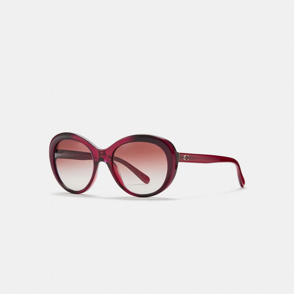 Coach Beveled Edge Oval Sunglasses