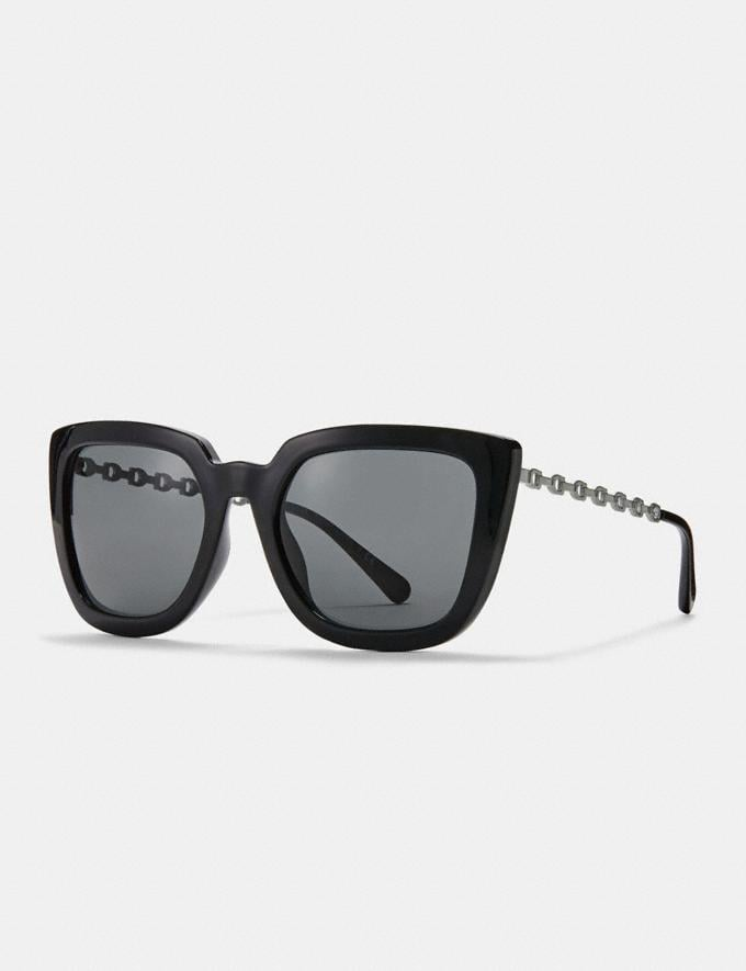 Coach Signature Chain Large Square Sunglasses Black DEFAULT_CATEGORY